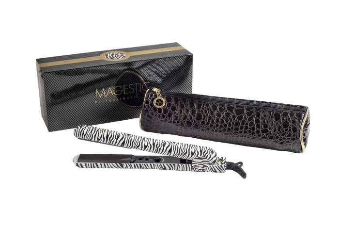 HAIR STRAIGHTENER -­ 1.25″ PLATINUM ZEBRA